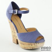 just bought these - beautiful periwinkle blue - LC Lauren Conrad Peep-Toe Wedges from Kohl's