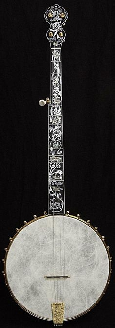 """Jubilo"" Ornate Open Back Gold Plated 5 String Banjo by Bob Flesher 