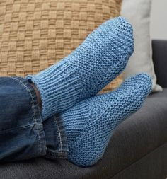 If you want to learn how to knit slippers your loved ones will actually wear, this is the perfect pattern.