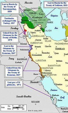 Iran Politics Club: Iran Historical Maps 10: Qajar Persian Empire, Qajar Kingdom, Pahlavi Kingdom