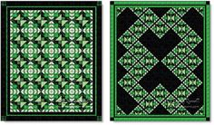 Sample quilts designed using the MY FANCY quilt block