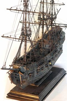 Instant Access to 518 Different Plans - From Small Wooden Boat Plans To Large Sailboat Plans - Free Boat Plans Model Sailing Ships, Old Sailing Ships, Bateau Pirate, Black Pearl Ship, Scale Model Ships, Model Ship Building, Boat Art, Wooden Ship, Wooden Boats