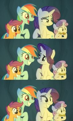 #1520377 - campfire tales, cave, pony, rainbow dash, rarity, safe, scootaloo, screencap, smiling, spoiler:s07e16, sweetie belle - Derpibooru - My Little Pony: Friendship is Magic Imageboard