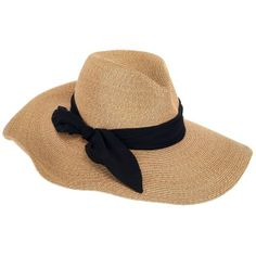 EUGENIA KIM Cassidy Straw Hat - Camel/Black found on Polyvore