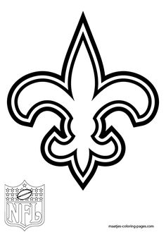 Fleur de lis decal New Orleans Saints by SwampKatKreations on Etsy Coloring Pages To Print, Coloring Pages For Kids, Coloring Sheets, Colouring, New Orleans Saints Logo, New Orleans Saints Football, Saint Tattoo, Football Coloring Pages, Football Crafts