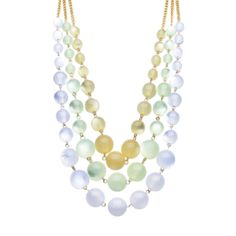 I love the Catherine Stein Designs Tonal Three Row Beaded Necklace from LittleBlackBag