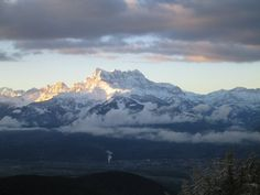 Mountain view from Leysin, Switzerland