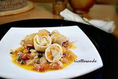 Calamari ripieni di verdura