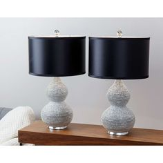 Sayer Silver Plated Sea Urchin Table Lamp - Set of 2