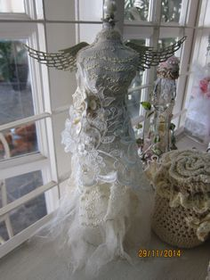Shabby chic steampunk altered dress form / Mannequin created by Msgardengrove1