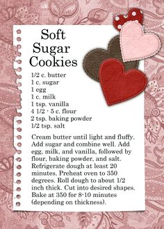 Sugar Cookies (bakery sugar cookie recipes)