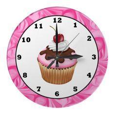 Sweet Treat Cupcake wall clock
