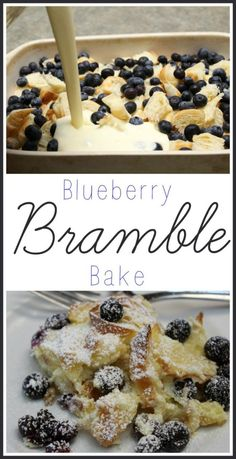 Blueberry Bramble Bake ~ Delicious Breakfast Dessert I love a delicious breakfast dish! If you do too, you'll love my Blueberry Bramble Bake Recipe. It's easy to make and a huge hit with the whole family! Yummy Recipes, Gourmet Recipes, Baking Recipes, Delicious Desserts, Dessert Recipes, Yummy Food, Beef Recipes, Simple Recipes, Tasty