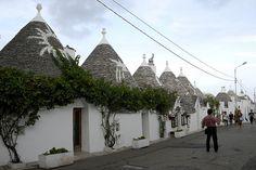 Italy, Alberobello - Puglia; trullo style buildings