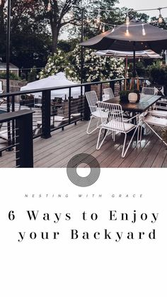 6 Ways to enjoy your Outdoor Space and Our Backyard Deck Review   Nesting With Grace   With our new pool and patio lighting, and TimberTech deck, I'm sharing great ways you can spruce up your outdoor entertaining and dining space with some simple accessories. #outdoorliving #patiospace Cottage Living, Coastal Cottage, Outside Living, Outdoor Living, Small Space Living, Small Spaces, Outdoor Sconces, Outdoor Decor, Patio Lighting