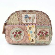 Neceser Japanese Patchwork, Patchwork Bags, Quilted Bag, Wool Applique, Applique Quilts, Mini Purse, Mini Bag, Handmade Purses, Fabric Bags
