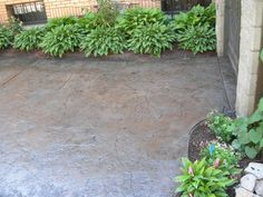 """Rock Skin"" Stamped Concrete in Slate Grey Outside Patio, Back Patio, Backyard Patio, Backyard Ideas, Stamped Concrete, Concrete Patio, Pool Signs, Home Landscaping, Outdoor Spaces"