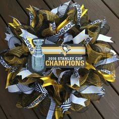 A personal favorite from my Etsy shop https://www.etsy.com/listing/478398771/pittsburgh-steelers-wreath