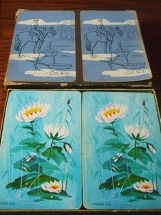 Vintage Imperial Plastic Coated Playing Cards Gilt by PAULIE22, $3.95