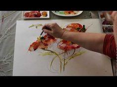 Wasser, Farbe und Mut - Tutorial wilde Mohnblumen - YouTube