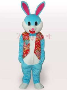 $209.73Colorful Easter Bunny Rabbit Short Plush #Adult #Mascot #Costume