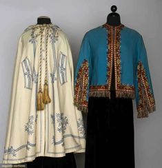 Two Pieces Ladies' Wool Outerwear, 1860s, Augusta Auctions, November 13, 2013 - NYC, Lot 120