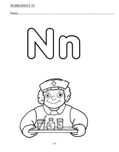 Letter N Coloring Pages Preschool Printable For Kids Is