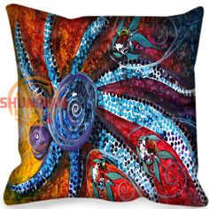 New arrival octopus Style throw Pillowcase Square Zippered Pillow Cover Custom Gift H@0209-126 #Affiliate