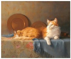 """""""Ginger And Her Mother"""" by Berry Fritz - Oil painting"""