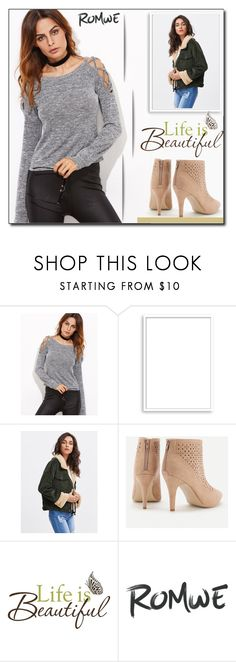 """""""ROMWE 3 / VII"""" by selmamehic on Polyvore featuring moda, Bomedo i Brewster Home Fashions"""