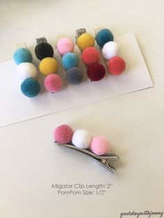Baby Hair Clips Pompom Hair Clips Toddler Hair Clips non slip hair clips Baby Bow Hair bows Girls hair clip set Hair Accessories Felt Hair Clips, Baby Hair Clips, Baby Hair Bows, Flower Hair Clips, Girls Hair Clips, Flower Headbands, Diy Hair Clips And Bows, Felt Hair Bows, Diy Beauté