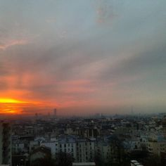 @janettesvn Instagram photo |  janettesvn #sunset over #Paris. Lovely end to the day. #nevetireofthisview #instaparis #ParisRooftops #Parisjetaime #igersparis