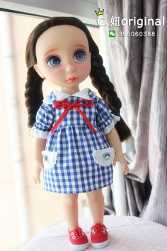 迪士尼迪斯尼娃娃 沙龙娃娃服饰娃衣 衣服 连衣裙 回到童年-淘宝网