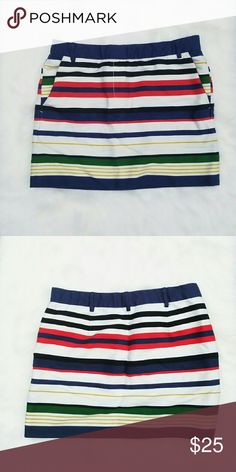 ADORABLE J. Crew Striped Skirt Size four. Beautiful fabric! Super soft! Very flattering and in like new condition. J. Crew Skirts Mini