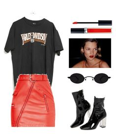 """""""Untitled #7365"""" by ijustlikefashionman ❤ liked on Polyvore featuring Harley-Davidson, Public Desire and Christian Dior"""