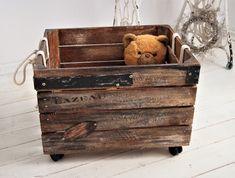 Skrzynia drewniana Loft Toy Chest, Storage Chest, Decorating, Toys, Vintage, Furniture, Home Decor, Dekoration, Decoration
