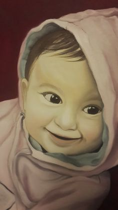 Baby portrait / Oil on Canvas