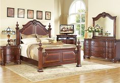 Shop for a Cortinella Poster 5 Pc Queen Bedroom at Rooms To Go. Find Queen Bedroom Sets that will look great in your home and complement the rest of your furniture. Rooms To Go Bedroom, Rooms To Go Furniture, At Home Furniture Store, King Bedroom Sets, Queen Bedroom, Home Bedroom, King Furniture, Bedrooms, Furniture Dolly