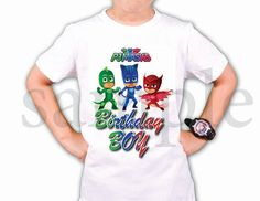 INSTANT DL Pj Masks  Iron on Transfer Birthday Boy pj masks