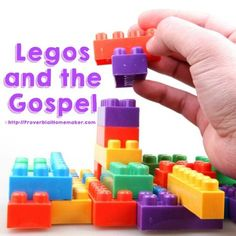 and the Gospel Use Legos to teach your child the gospel in a way that they will understand and remember!Use Legos to teach your child the gospel in a way that they will understand and remember! Bible Object Lessons, Bible Lessons For Kids, Bible For Kids, Children Church Lessons, Toddler Bible, Youth Lessons, Church Activities, Bible Activities, Sunday School Lessons