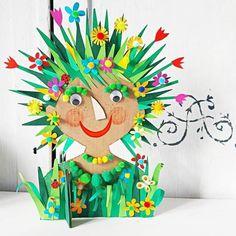 Summer Crafts For Kids, Spring Crafts, Art For Kids, Easy Crafts, Diy And Crafts, Arts And Crafts, Paper Crafts, Spring Art, Summer Art