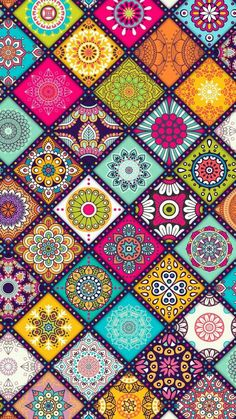 Beautiful Dot Art and Floral Mandala Pattern Art and with Such Great Colors! Mandala Wallpaper, Pink Wallpaper, Colorful Wallpaper, Cool Wallpaper, Wallpaper Backgrounds, Mobile Wallpaper, Wallpaper Patterns, Tribal Pattern Wallpaper, Floral Wallpaper Iphone