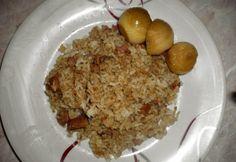 Gyors rizses csirkemáj Ketchup, Food, Essen, Meals, Yemek, Eten