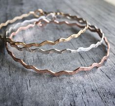 A personal favorite from my Etsy shop https://www.etsy.com/listing/210216061/silver-rose-gold-bangle-set-14k-sterling