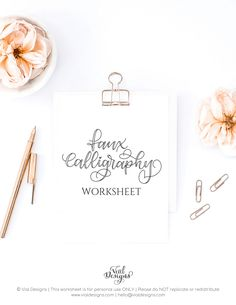 Learn How to make Faux Calligraphy Uppercase Letter by Vial Designs Calligraphy Tutorial Beginners, Modern Calligraphy Tutorial, Fake Calligraphy, Hand Lettering For Beginners, Calligraphy Supplies, Hand Lettering Tutorial, Calligraphy Practice, Calligraphy Handwriting, Calligraphy Alphabet