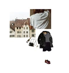 """Coffee Grounds"" by ana-valery22 ❤ liked on Polyvore featuring Dr. Martens, Adeam and Yves Saint Laurent"