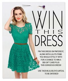 #LULUSLOVE #TEAL   I do love this dress, teal is one of my favorites!!!
