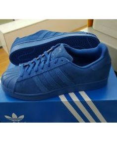 online store 007dc 763aa Adidas Superstar Mens Blue Slip-On Cheap Trainers T-1070