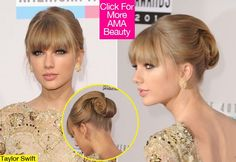 without loose hair in the front Taylor Swift Pony, Taylor Swift Bangs, Up Dos For Medium Hair, Medium Hair Styles, Long Hair Styles, Sleek Updo, Elegant Updo, Loose Hairstyles, Wedding Hairstyles