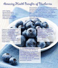 Health benefits of blueberries / Gezondheidsvoordelen van bosbessen Nutrients In Blueberries, Blueberries Nutrition, Get Healthy, Healthy Tips, Healthy Foods, Eating Healthy, Healthy Recipes, Healthiest Foods, Healthy Quotes
